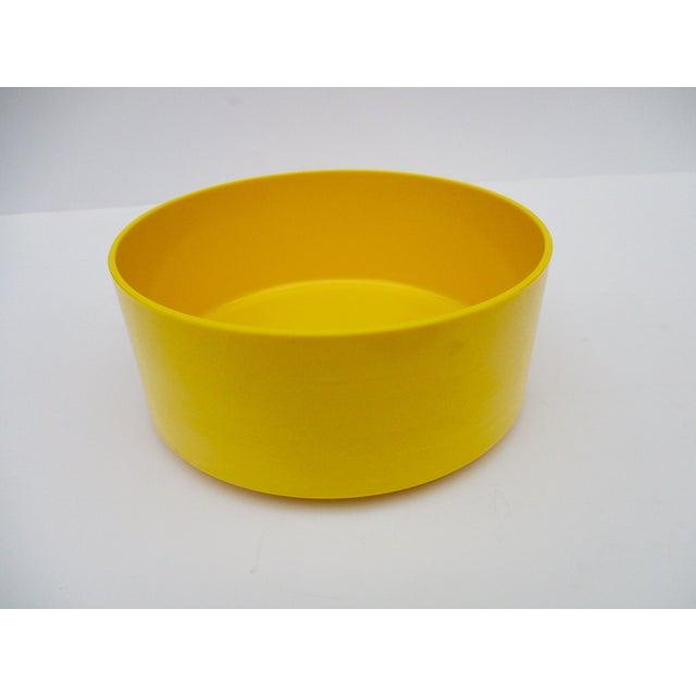 Massimo Vignelli Yellow Melamine Salad Bowl - Image 9 of 11