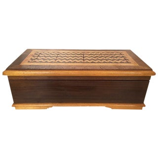Large Wood Jewel Box For Sale