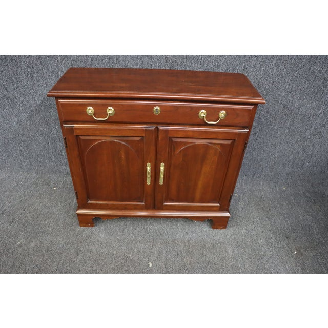 Harden Console Cabinet, Chippendale style , solid cherry , single drawer over 2 raised panel doors , shelf inside ,...