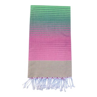 Turkish Tamam Watermelon Ombré Peştemal Towel For Sale