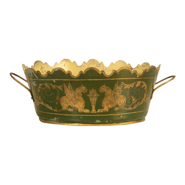 French Tole Jardinière, Circa 1800s For Sale