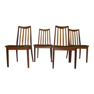 1970's Benny Linden Danish Modern Teak Dining Chairs - Set of 4