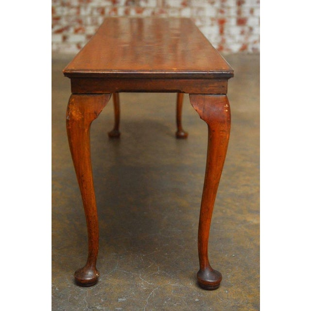19th Century Queen Anne Revival Walnut Bench or Console - Image 5 of 8
