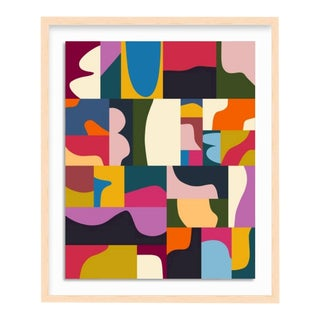 Bright Abstract Mosaic with Frame - Medium For Sale