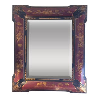 Chinoiserie Style Wall Mirror For Sale
