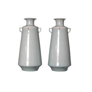 Chinese Celadon Vases - A Pair For Sale