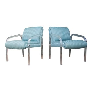 Mid-Century Modern Lion in Frost Lucite Chairs- A Pair For Sale