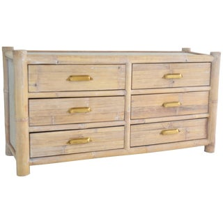 Cerused Bamboo Sideboard For Sale