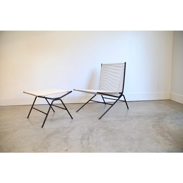 Allan Gould String Chair & Ottoman For Sale - Image 11 of 11