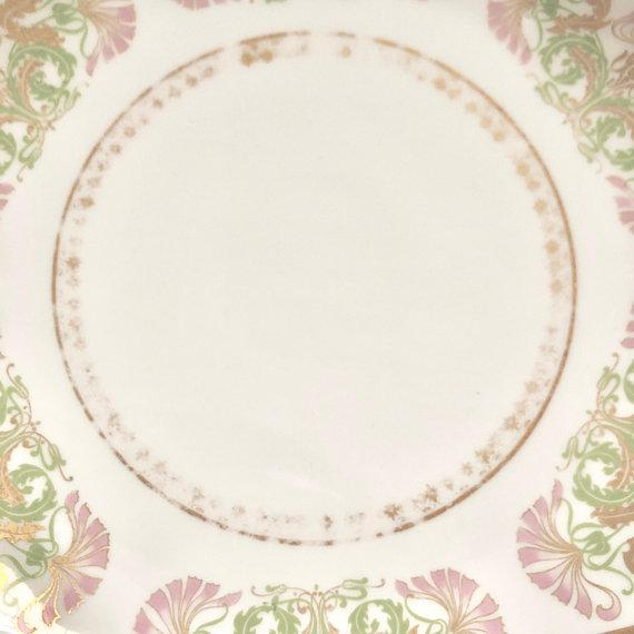 Pink Antique Jean Pouyat Limoges Plate For Sale - Image 8 of 11