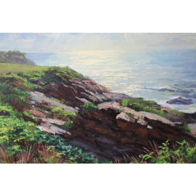 Mid 20th Century Caddell Seascape of Belfast Maine For Sale - Image 5 of 8