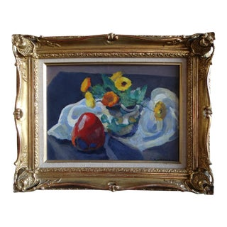 1940s Mabel Alvarez Still Life Oil on Board Painting For Sale