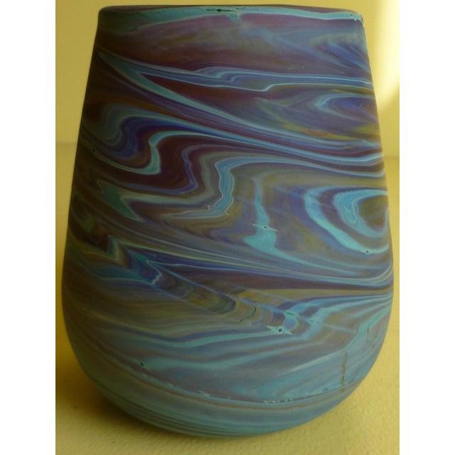 Mid Century Studio Art Glass Vase For Sale - Image 13 of 13
