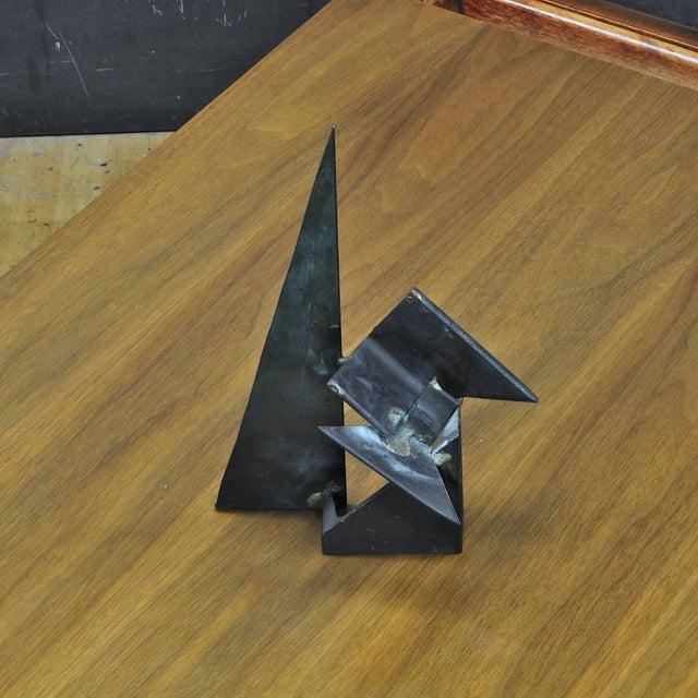 Vintage 1960s-1970s Studio Craft Brutalist Welder Table Sculpture For Sale - Image 4 of 6