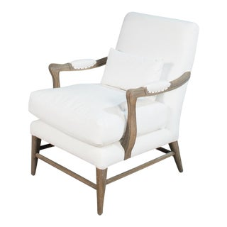 (Free Local Delivery) Ivory and Oak Sarreid Oak Side Chair