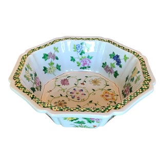 1970s Vintage Chinese Decorative Porcelain Bowl For Sale