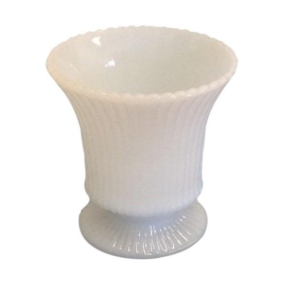 Small Vintage Milk Glass Vase - Image 1 of 5