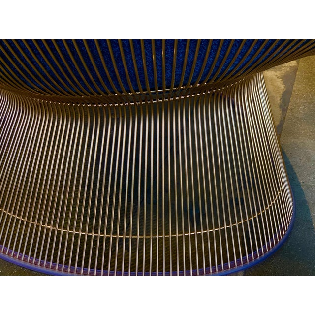 Black 3 Warren Platner for Knoll Easy Chairs 18-Karat Gold-Plated For Sale - Image 8 of 13