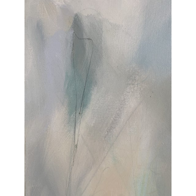 Signed Abstract Oil and Acrylic Painting on Canvas by Christina Javanmardi For Sale - Image 4 of 5