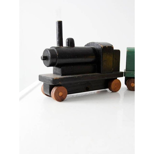Vintage Wooden Toy Train For Sale - Image 6 of 8