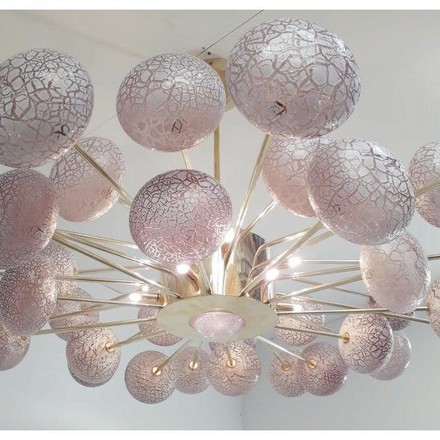 Metal Crackled Globes Chandelier by Fabio Ltd For Sale - Image 7 of 9