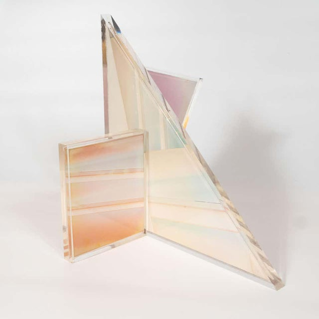 Acrylic Mid-Century Modern Polychromatic Cast Acrylic Sculpture by Norman Mercer For Sale - Image 7 of 12