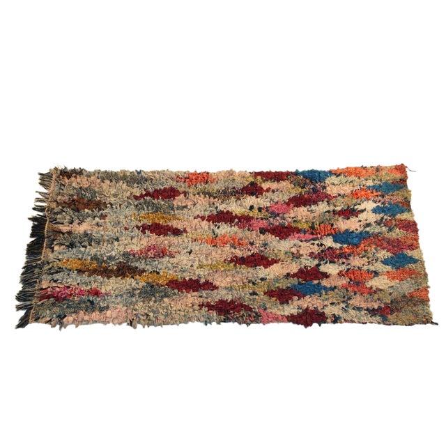 """Vintage Boucherouite Carpet - 5'10"""" X 2'10"""" - Image 1 of 3"""