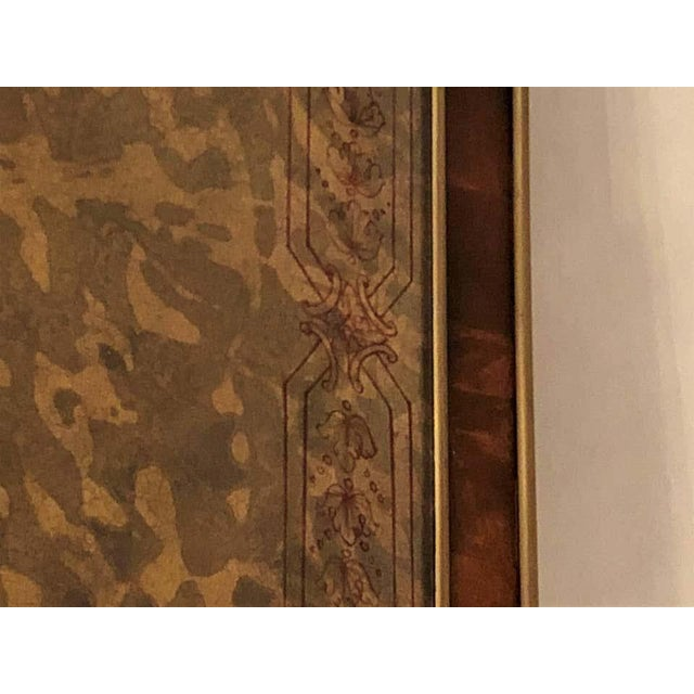 Hollywood Regency Hollywood Regency Bronze Decorated End Table X-Base Sides Tortoise Glass Top For Sale - Image 3 of 11