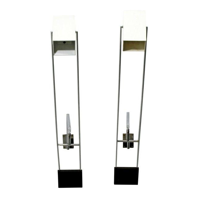 Mid Century Modern Pair Sonneman Adjustable Chrome Light Fixtures Sconces- A Pair For Sale