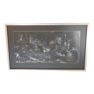Original Vintage Expressionist Gouache on Paper - Zebras - Nicola Ortis Poucette - Signed/Framed For Sale