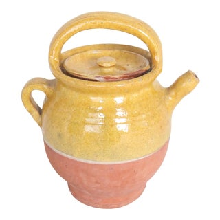Early 20th Century French Pottery Water Jug W/Lid From Provence For Sale