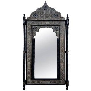 White Camel Bone Framed Moroccan Wall Mirror