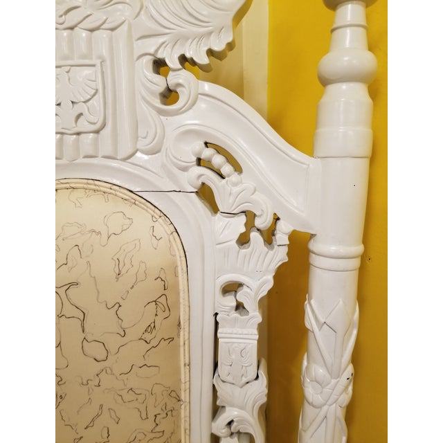 White 19th Century Antique Lion Chair For Sale - Image 8 of 11