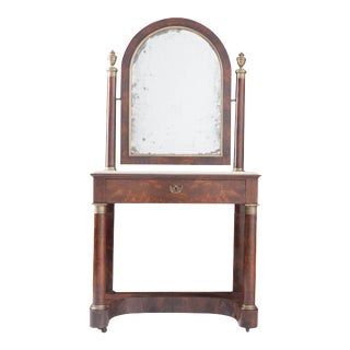 Early 19th Century French Empire Mahogany Dressing Table For Sale
