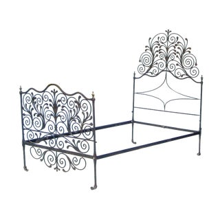Ornate Iron Bed For Sale