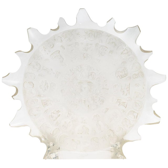 Lucite Sun Disc Sculpture C. 1980s For Sale - Image 13 of 13