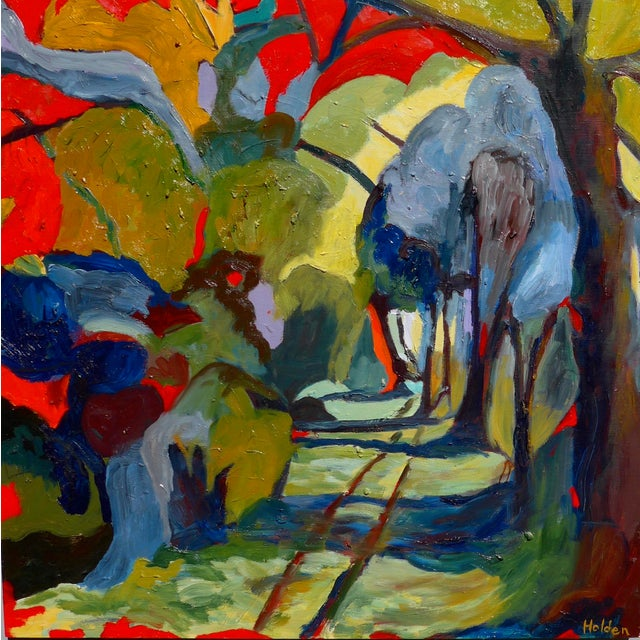 Abstract Painting, Path in the Woods For Sale - Image 9 of 10