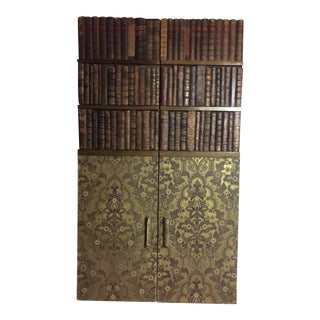 19th Century Edwardian Bookbinds Door Panel For Sale