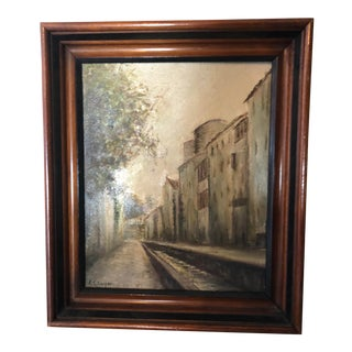 Village Impressionist Street Art Painting For Sale