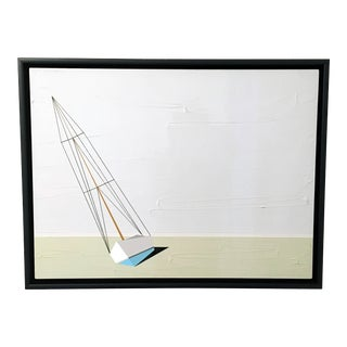 Jason Wright, Darling, Oil and Acrylic Painting, Sailboat, Textured For Sale