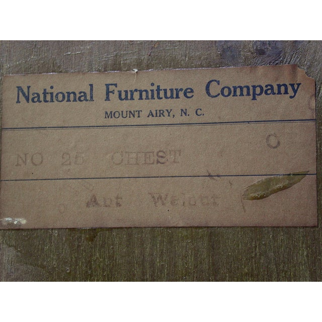 National Furniture Company Heirloom Walnut Highboy Dresser For Sale - Image 11 of 11