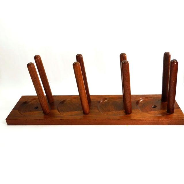 Mid Century Modern Teak Wood Wine Racks - A Pair - Image 5 of 6