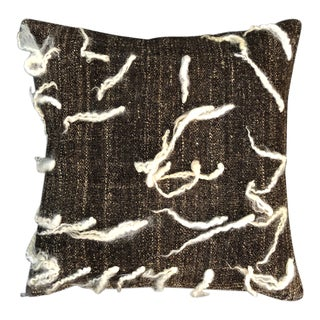 """Unico"" Brown Wool Pillow by Le Lampade For Sale"