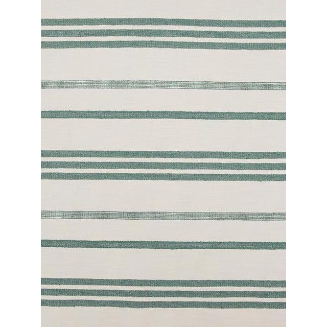 Sample, Scalamandre Marina Stripe Agave Fabric For Sale