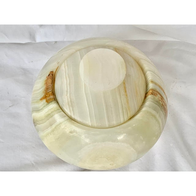 Mid 20th Century Vintage Onyx Lidded Box For Sale - Image 5 of 13