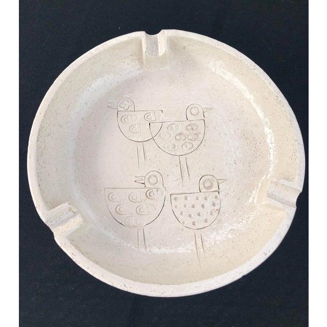 Vintage Mid-Century Modern Italian Ceramic Ashtray by Aldo Londi-Bitossi For Sale - Image 9 of 13