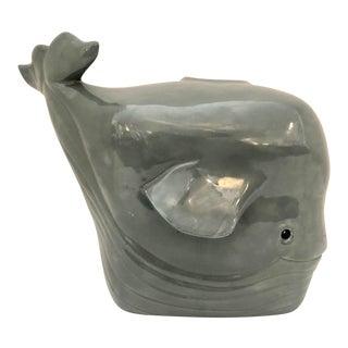Midcentury Ceramic Whale Tissue Box For Sale