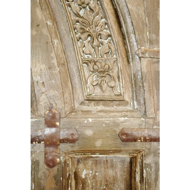 Old Jodhpur Carved Entrance Doors For Sale In Los Angeles - Image 6 of 8