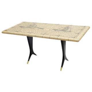 Piero Fornasetti Piazza Con Obelischi Coffee Table For Sale