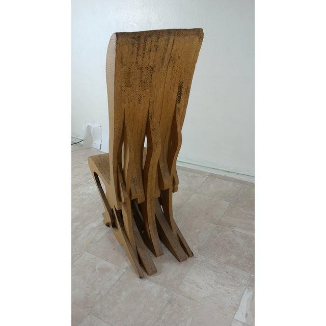 Modern Vintage Cardboard Chair, 1970s For Sale - Image 3 of 11